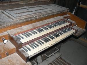 Console de l'orgue de chœur de Saint-Rémy de Dieppe